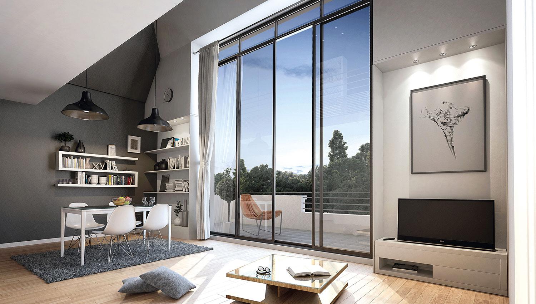 Millésime, avec ses grands logements offre la modernité et l'intérêt des matériaux nouveaux dans un cadre exceptionnel